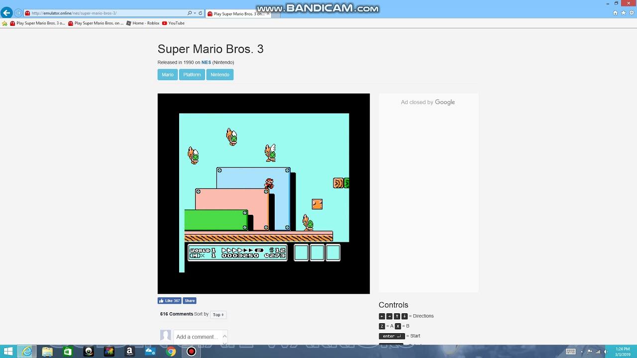 emulator online super mario bros 3