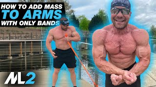 BIG ARM PUMP - Resistance-Band Workout Day 24 - Daily Home Workout