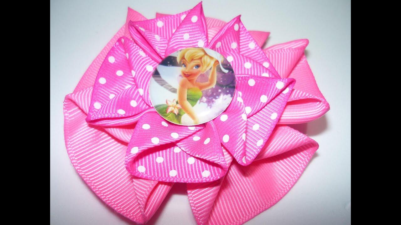 Como hacer flor facil de cinta how to make flower easy - Material para hacer diademas ...