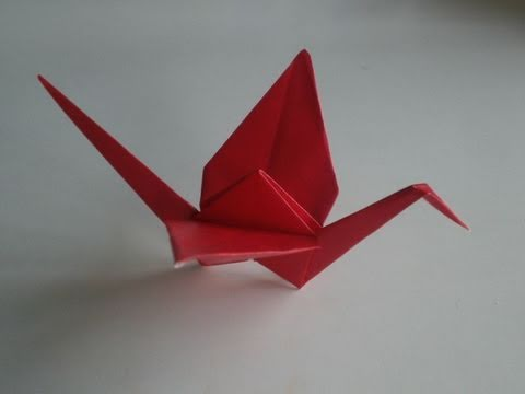 simple origami for kids: how to make a origami crane | 360x480