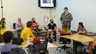 classroom with everyone wearing masks