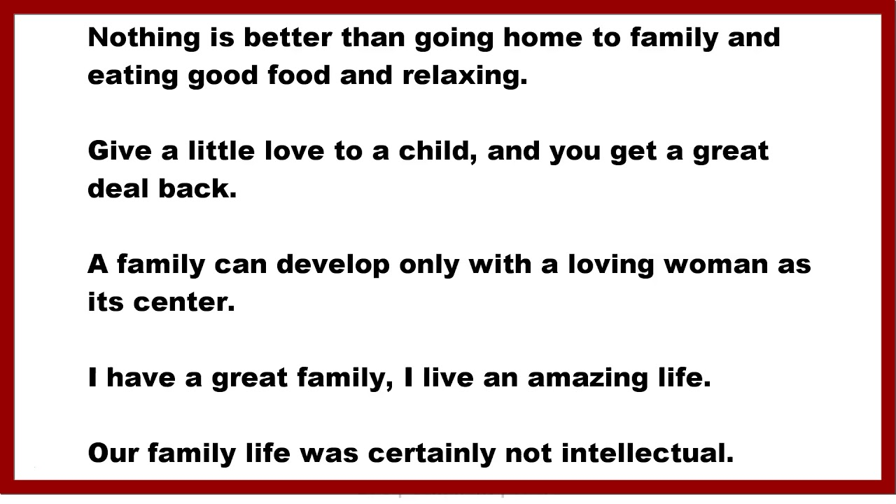 Family Quotes Nothing Is Better Than Going Home To Family And