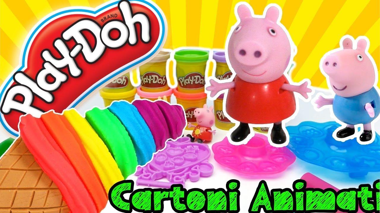 Peppa pig torta di compleanno play doh giochi per for Torta di compleanno per bambini