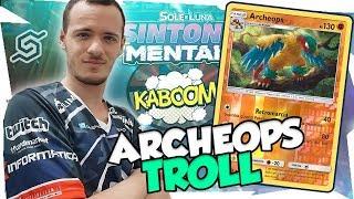 VINCERE SCARTANDO ENERGIE| ARCHEOPS TROLL DECK| MAZZO SINTONIA MENTALE| Pokemon TCGO ITA