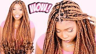 How To: BOX BRAIDS Tutorial For Beginners! VERY DETAILED ON YOURSELF!