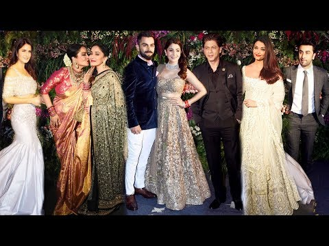 Bollywood At Virat Kohli Anushka Sharma Wedding Reception Mumbai 2017 Complete Full Video HD
