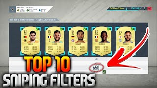 FIFA 20 TOP 10 SNIPING FILTERS (BEST SNIPING FILTERS TO MAKE COINS FIFA 20 SNIPING)
