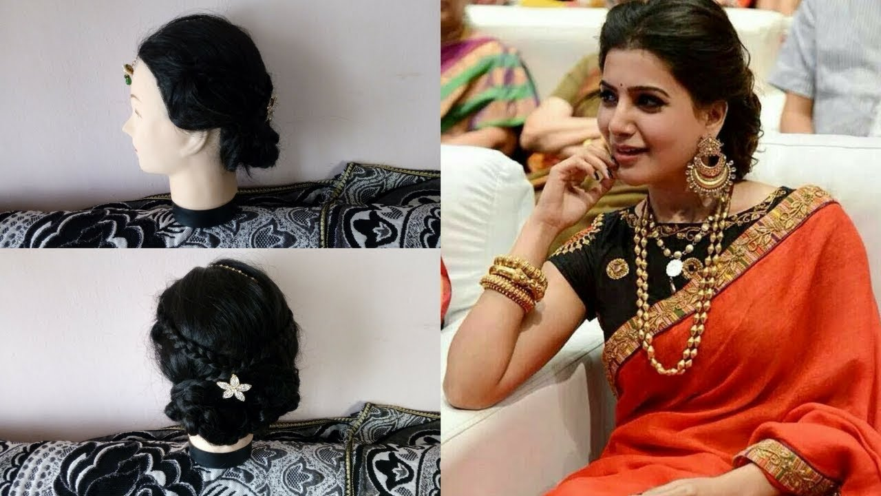 Samantha Ruth Prabhu Hairstyle Tutorialsimple Bun Hairstyle For