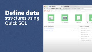 Defining New Data Structures Using Quick SQL video thumbnail