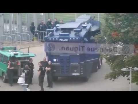 mit Polizei ins Stadion und zurück | Hansa Rostock – Fortuna Düsseldorf | 20.08.16  F95