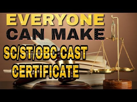 how to apply caste certificate online in india sc/st/obc
