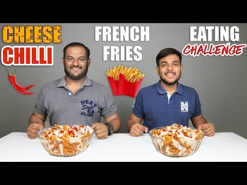 CHEESE CHILLI FRENCH FRIES EATING CHALLENGE | Spicy French Fries Eating Competition | Food Challenge
