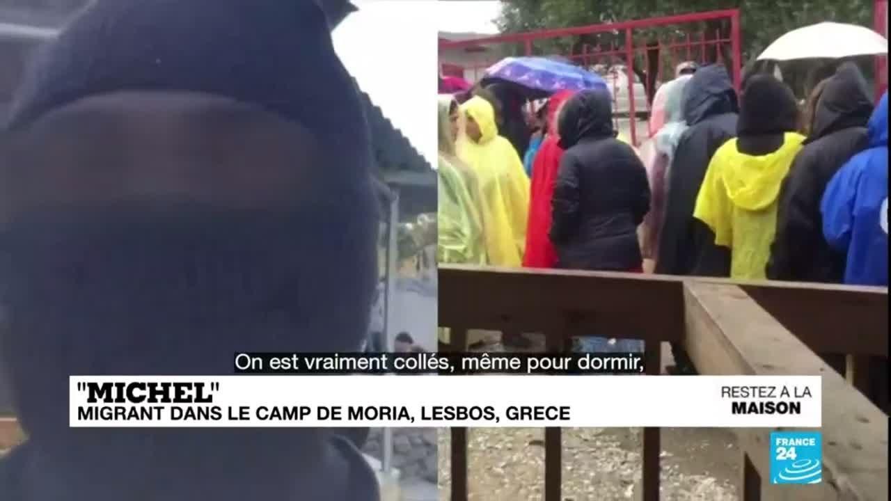 Pandémie de Covid-19 : À Lesbos, témoignage dans le camp de migrants de Moria