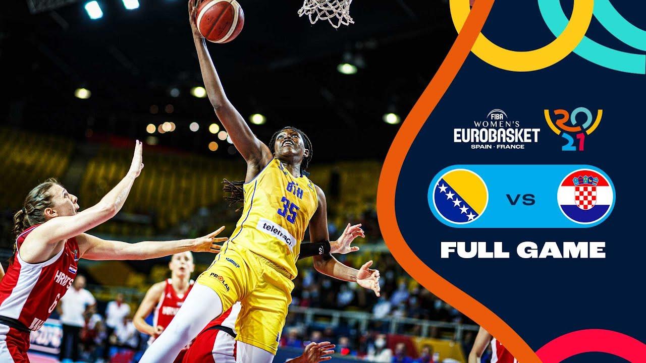 Bosnia and Herzegovina v Croatia   Full Game - FIBA Women's EuroBasket 2021 Final Round