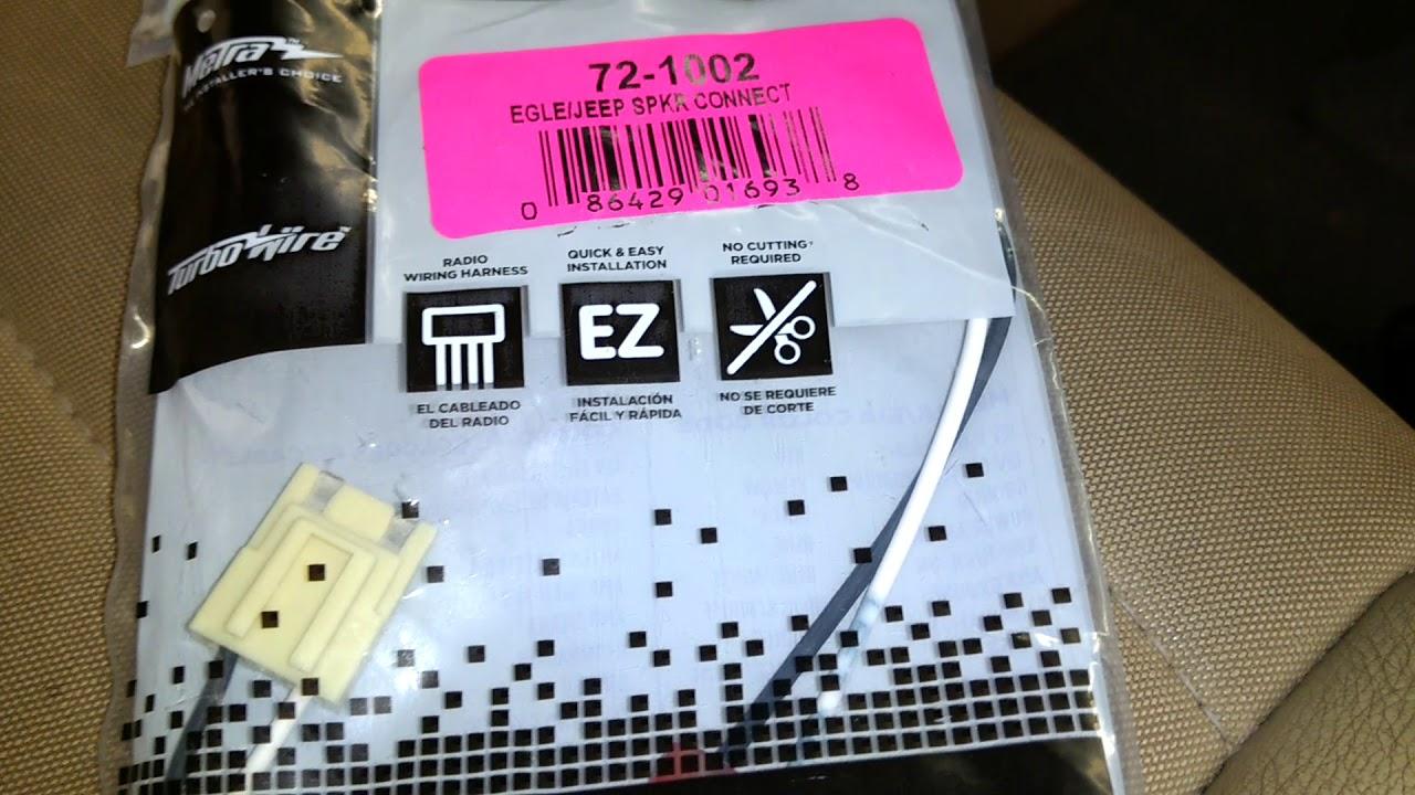 metra 72 1002 speaker connector 1991 jeep wrangler yj [ 1280 x 720 Pixel ]