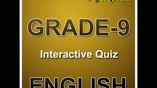 English grammar quizzes for 9th grade olympiad