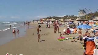 Пляж Джемете 1. Панорама. 1.08.11. Анапа Курорт Инфо(Джемете пляж 1 августа 2011. Тепло, немного ветрено, шторм порядка трёх баллов. Температура воды в море +27...., 2011-08-01T19:38:25.000Z)