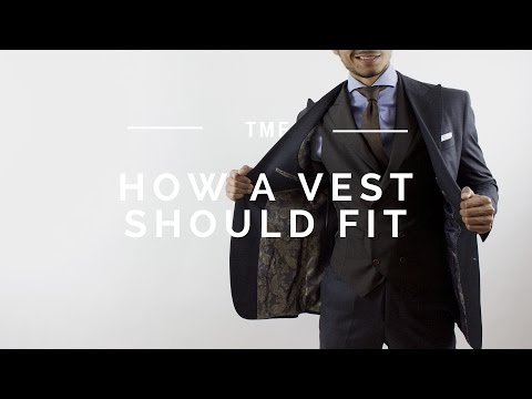 How Vest Waistcoat Should Properly Fit