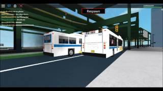 (Roblox) MTA NYCT Bus: 3 Q100 Busse 1999 Orion V CNG #9843 und 2 XD40s NFI #7467 und #7459