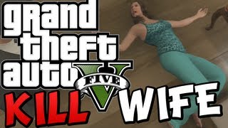 GTA 5 - How to KILL your WIFE AMANDA (Funny Moments Gameplay On GTA V)  Free Roam Fun Stuff