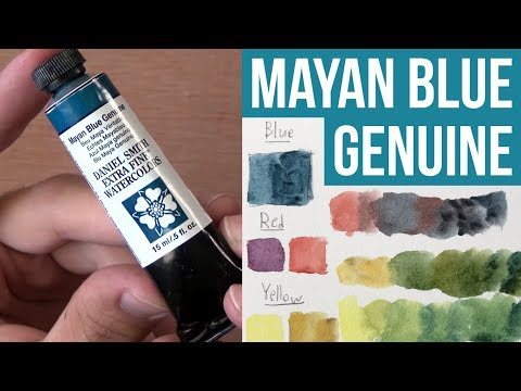 MAYAN BLUE GENUINE - Daniel Smith Primatek | The Paint Show 19