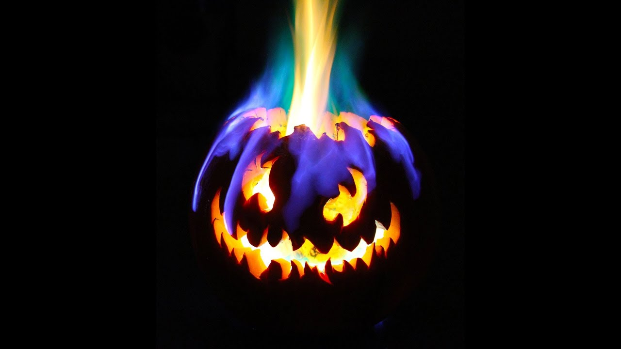rainbow fire halloween jack o lantern youtube