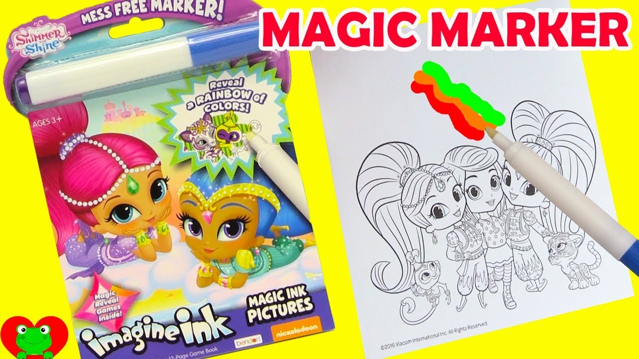 shimmer and shine imagine ink magic marker and surprises - Magic Marker Coloring Book