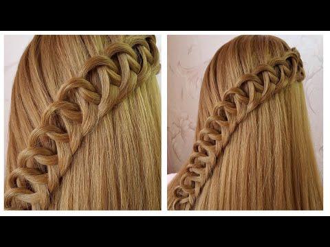 Quick & Easy Amazing Hairstyle For Girls | Tuto coiffure avec tresse originale, facile à faire thumbnail