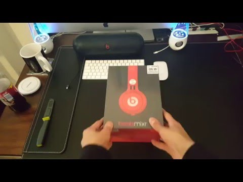 Beats By Dre Red Mixr Headphones unboxing