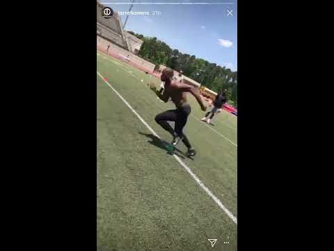 Julio Jones works out with Terrell Owens