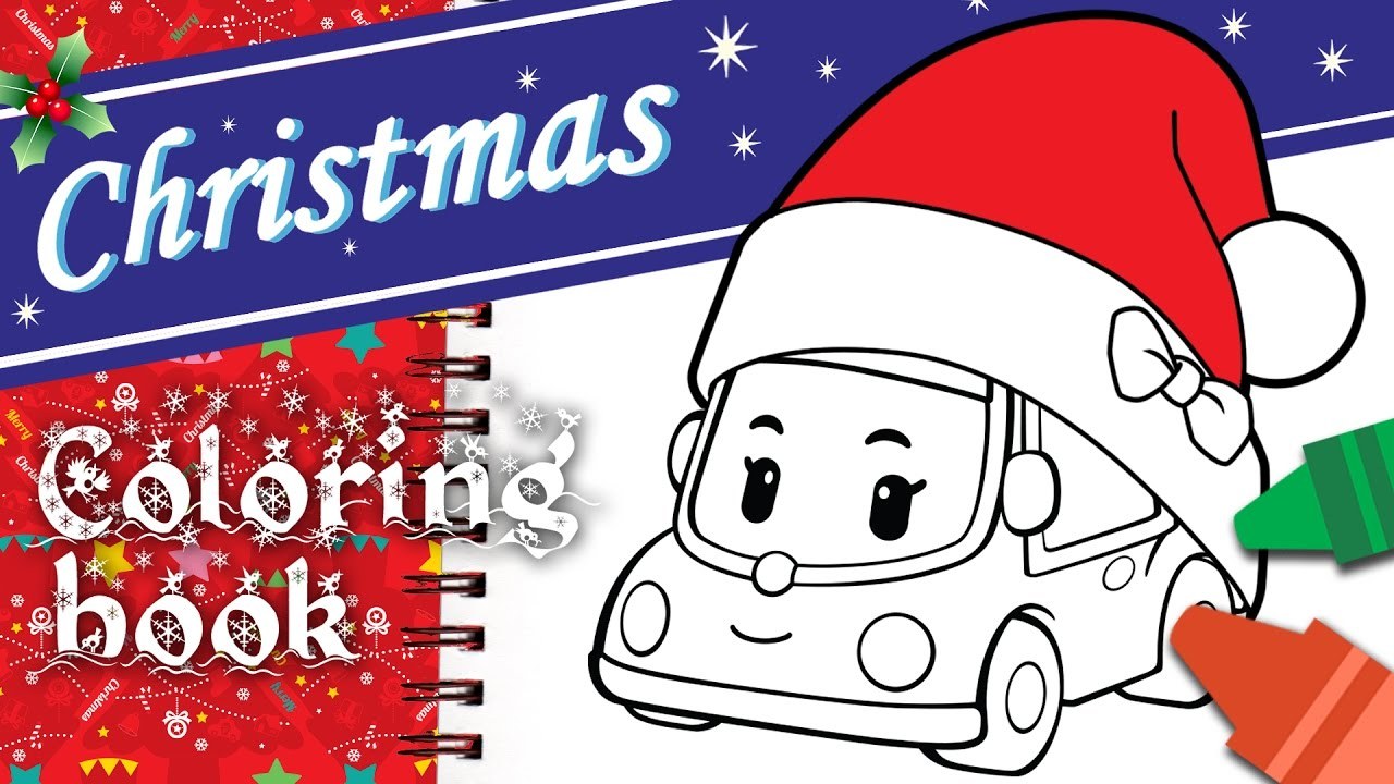 Christmas Coloring Book L Mini Robocar POLI Special