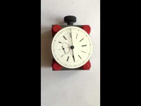 1/4 jump seconds pocket watch movement dial side ticking.