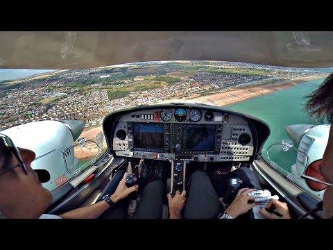 Diamond DA42 | Smooth Touch&Go at Shoreham Airport | MEP Training | GoPro Cockpit View & ATC Comms