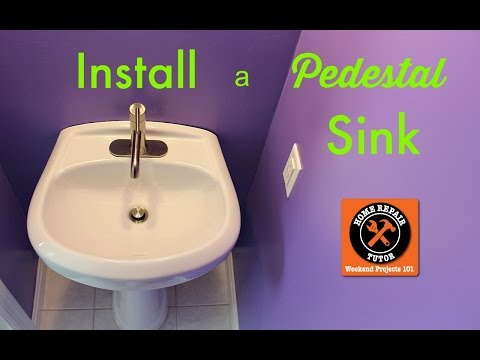 How to Install a Pedestal Sink and Faucet -- by Home Repair Tutor