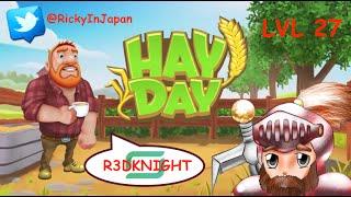 Hay Day - Level 27 - Farming, Fishing, Trucking, Hunting for XP & Tips