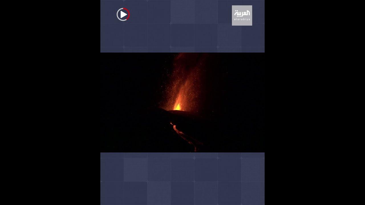 في مشهد ولا في أفلام الخيال.. أنهار من الحمم تتدفق من بركان -لا بالما- الثائر في إسبانيا  - نشر قبل 13 ساعة