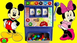Mickey Mouse and Minnie Mouse M&M Candy Machine Magical Surprises
