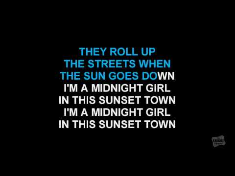 Midnight Girl/Sunset Town in the style of Sweethearts Of The Rodeo karaoke video