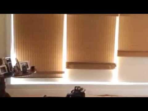 Motorized Woven Wood Blinds And Blackout Shades Youtube