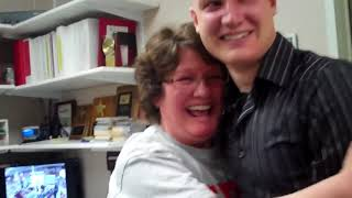 Soldiers Coming Home  Airman, Home Early, Surprises His Mom at Dinner
