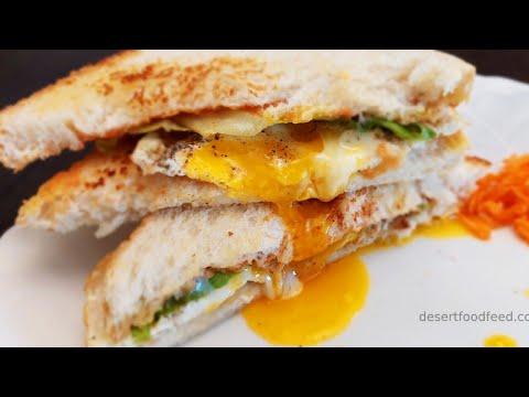 Poached Egg Sandwich | Delicious Bread Toast :) Breakfast Recipe | Desert Food Feed