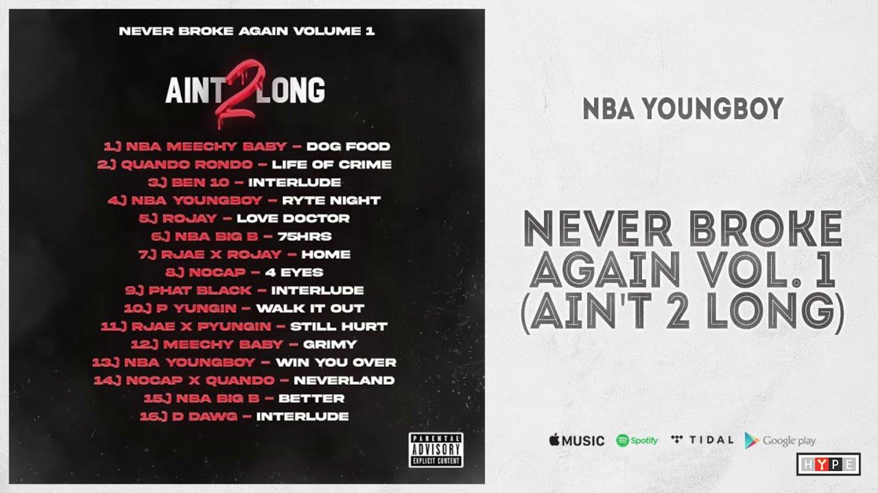 "Download NBA YoungBoy - ""Never Broke Again Vol. 1 (Ain't Too Long 2)"" (Full Mixtape)"