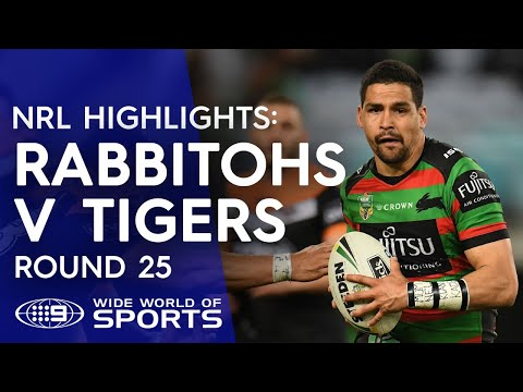 NRL Highlights: South Sydney Rabbitohs v Wests Tigers - Round 25