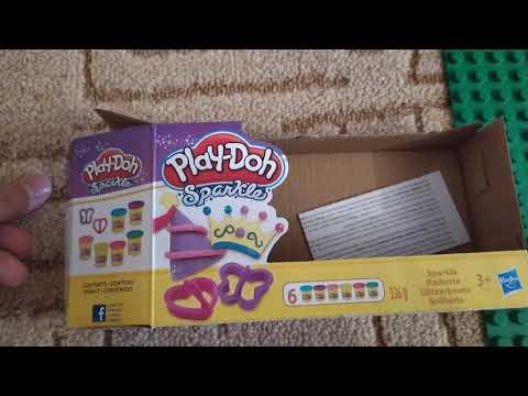 Hабор пластилина Play-Doh Блестящая коллекция из 6 баночек (A5417)