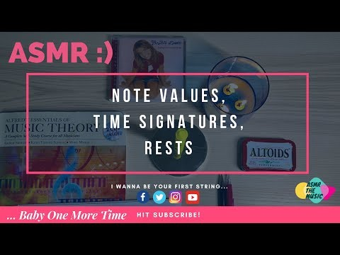 🎼 ASMR Note Values, Time Signatures, Rests🎵 + 💿 •Britney Spears - ...Baby One More Time• Unboxing