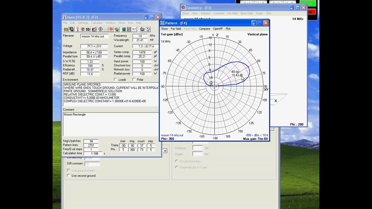 Moxon Antenna optimize 4nec2