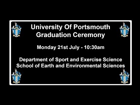 Graduation 2014, Department of Sport and Exercise Science School of Earth and Environmental Sciences