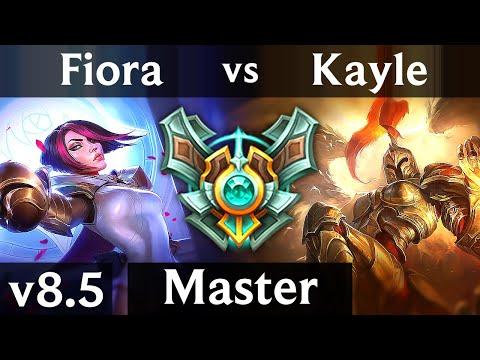 FIORA vs KAYLE TOP  Korea Master  Patch 85