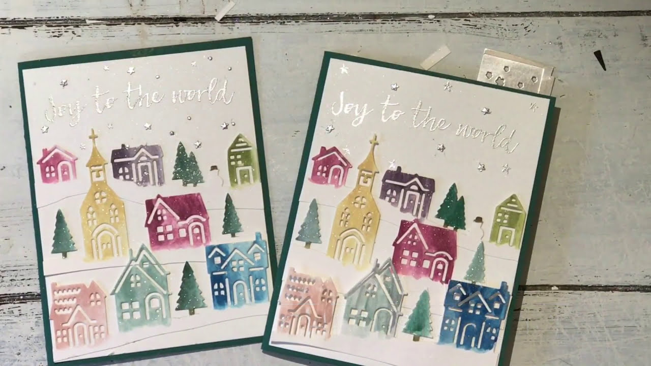 Hearts Come Home Shimmer Christmas Card: Stampin\' Up! - YouTube