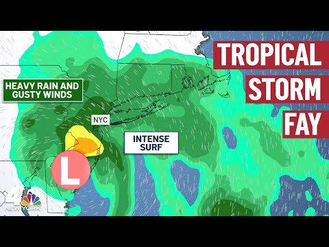 LIVE Tropical Storm Fay Updates for New York & New Jersey